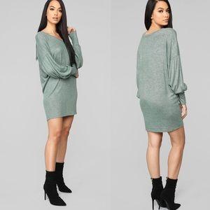 Long Sleeve Sweater Mini Dress